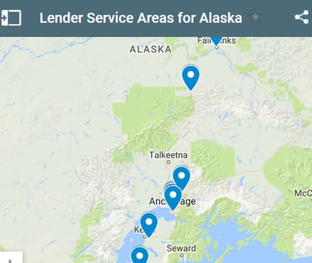 Alaska Bad Credit Lenders Map - Initial Static Image