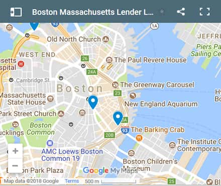 Boston Bad Credit Lenders Map - Initial Static Image