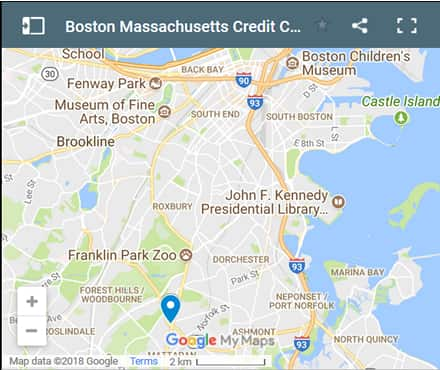 Boston Credit Counsellors Map - Initial Static Image