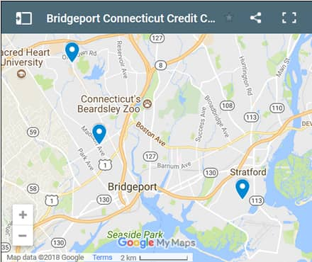 Bridgeport Credit Counsellors Map - Initial Static Image