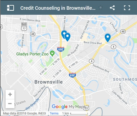 Brownsville Credit Counsellors Map - Initial Static Image