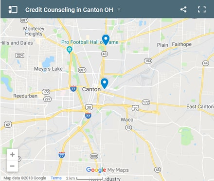 Canton Credit Counsellors Map - Initial Static Image
