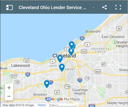 Cleveland Bad Credit Lenders Map - Initial Static Image