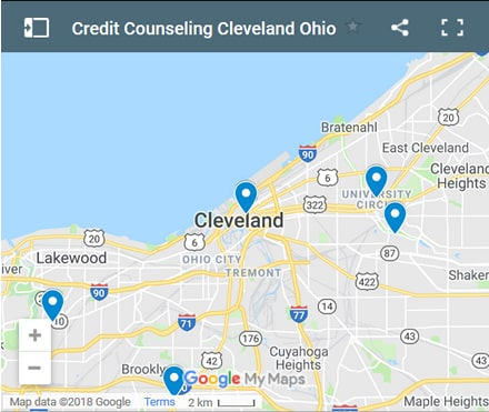 Cleveland Credit Counsellors Map - Initial Static Image