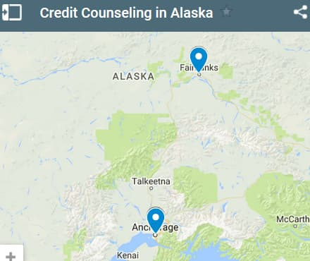 Alaska Credit Counselors Map - Initial Static Image