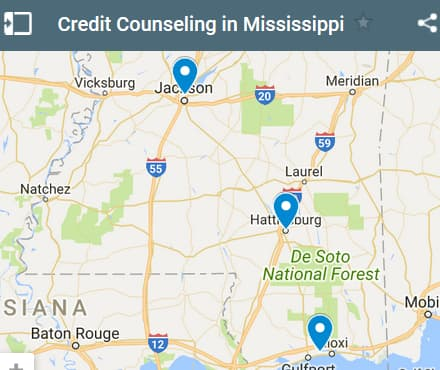 Mississippi Credit Counseling Providers - Initial Static Image