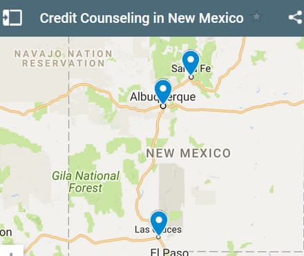 New Mexico Credit Counseling Providers - Initial Static Image