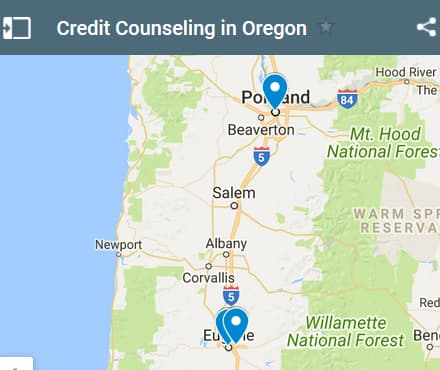 Oregon Credit Counseling Providers - Initial Static Image