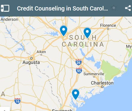 South Carolina Credit Counseling Providers - Initial Static Image