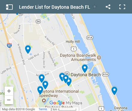 daytona-beach Bad Credit Lenders Map - Initial Static Image