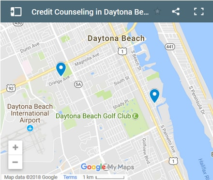 daytona-beach Credit Counsellors Map - Initial Static Image