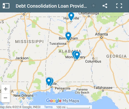 Alabama Debt Consolidation Loan Providers - Initial Static Image