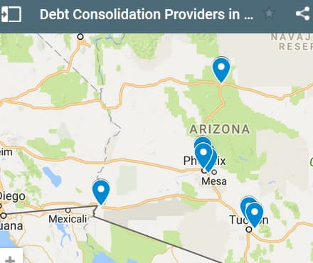Arizona Debt Consolidation Loan Providers - Initial Static Image