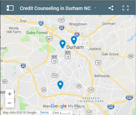 Durham Credit Counsellors Map - Initial Static Image