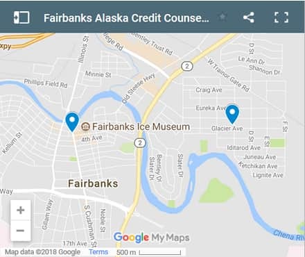 Fairbanks Credit Counsellors Map - Initial Static Image