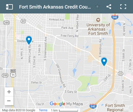 Fort Smith Credit Counsellors Map - Initial Static Image