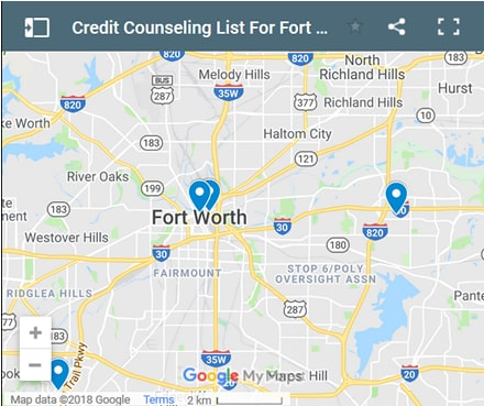 fort-worth Credit Counsellors Map - Initial Static Image