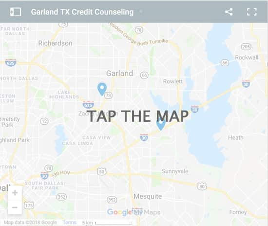 Garland Credit Counsellors Map - Initial Static Image