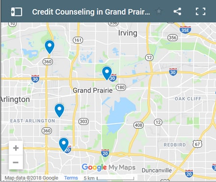 Grand Prairie Credit Counsellors Map - Initial Static Image