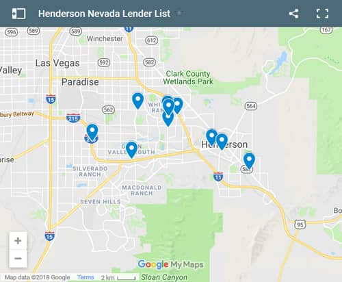 Henderson Bad Credit Lenders Map - Initial Static Image