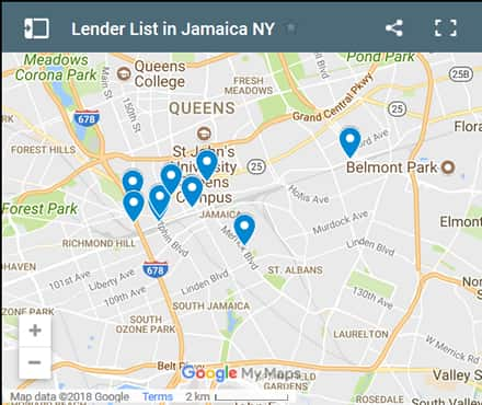 Jamaica Bad Credit Lenders Map - Initial Static Image