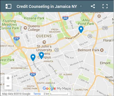 Jamaica Credit Counsellors Map - Initial Static Image