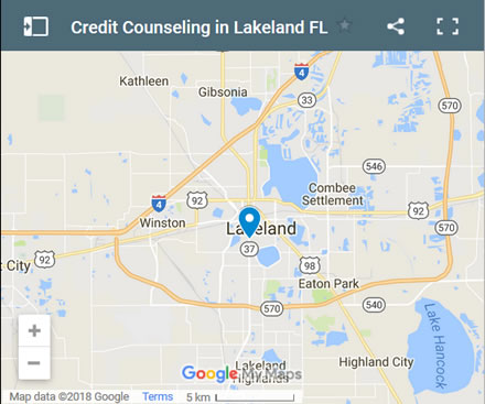 Lakeland Credit Counsellors Map - Initial Static Image