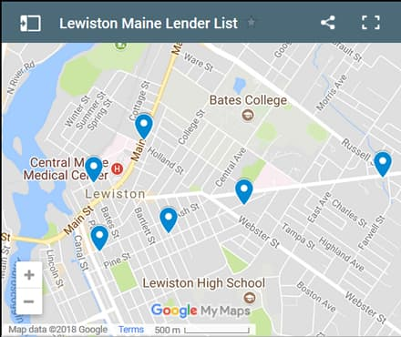 Lewiston Bad Credit Lenders Map - Initial Static Image