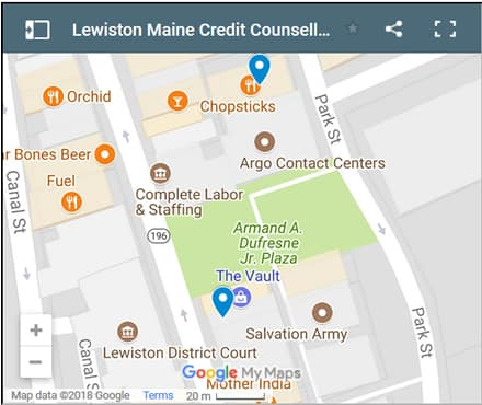 Lewiston Credit Counsellors Map - Initial Static Image