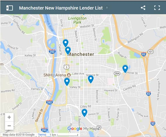 Manchester Bad Credit Lenders Map - Initial Static Image