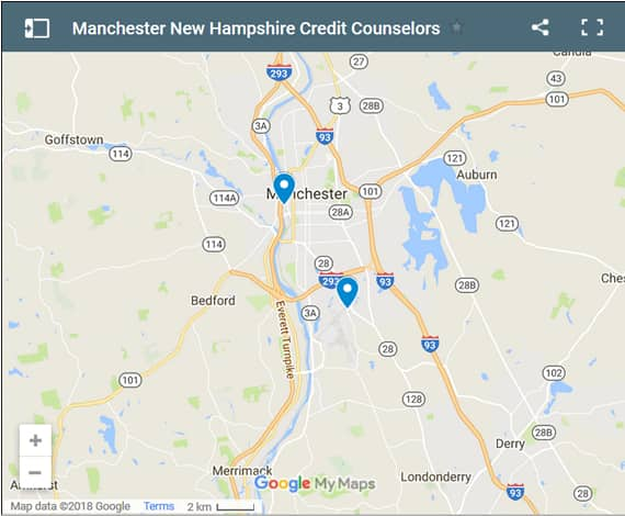 Manchester Credit Counsellors Map - Initial Static Image