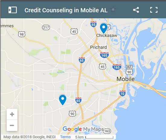 Mobile Credit Counsellors Map - Initial Static Image