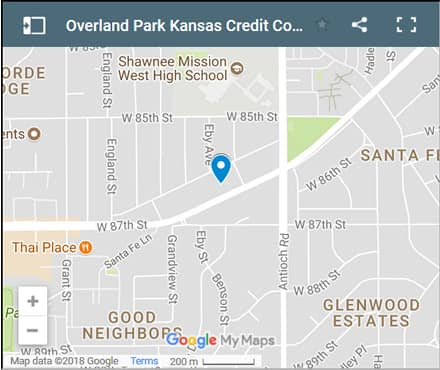 Overland Park Credit Counsellors Map - Initial Static Image