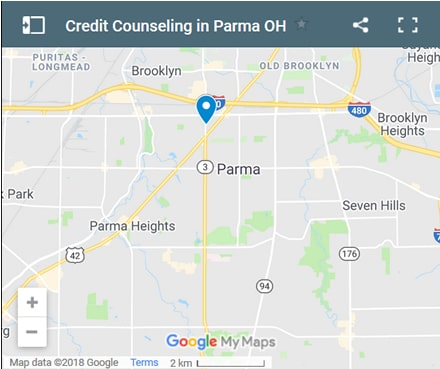 Parma Credit Counsellors Map - Initial Static Image