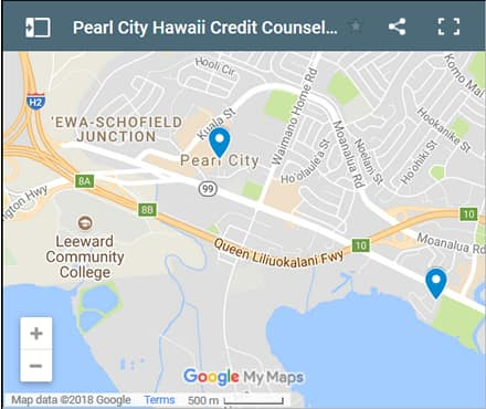 Pearl City Credit Counsellors Map - Initial Static Image