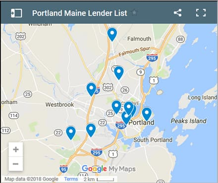 Portland Bad Credit Lenders Map - Initial Static Image