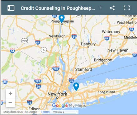 Poughkeepsie Credit Counsellors Map - Initial Static Image