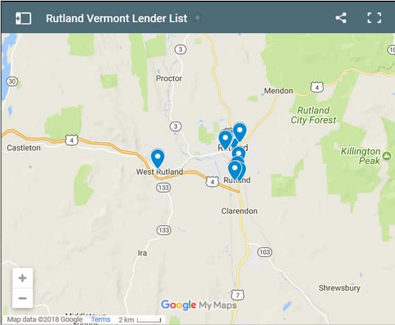 Rutland Bad Credit Lenders Map - Initial Static Image