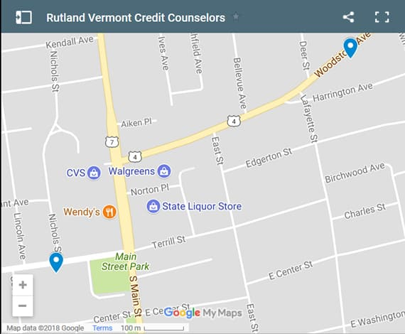 Rutland Credit Counsellors Map - Initial Static Image