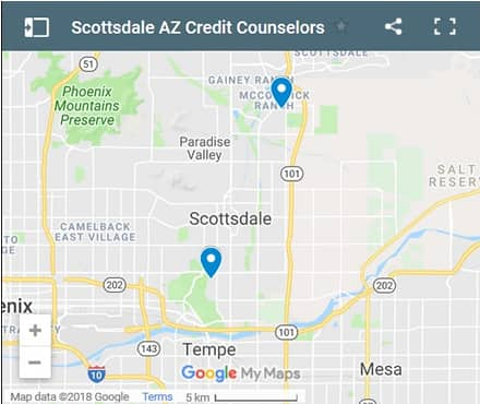 Scottsdale Credit Counselors Map - Initial Static Image