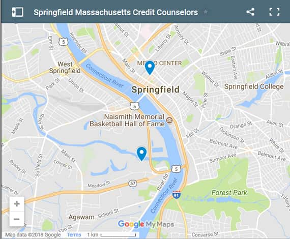 Springfield Credit Counsellors Map - Initial Static Image