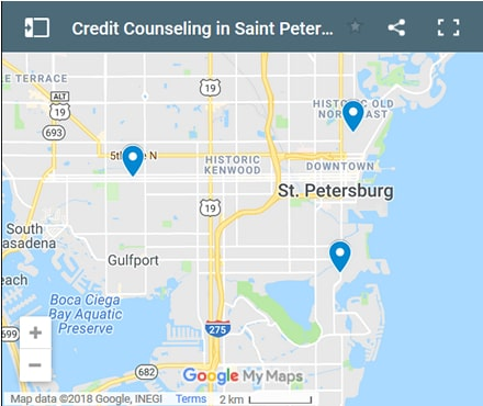 St. Petersburg Credit Counsellors Map - Initial Static Image