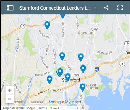 Stamford Bad Credit Lenders Map - Initial Static Image