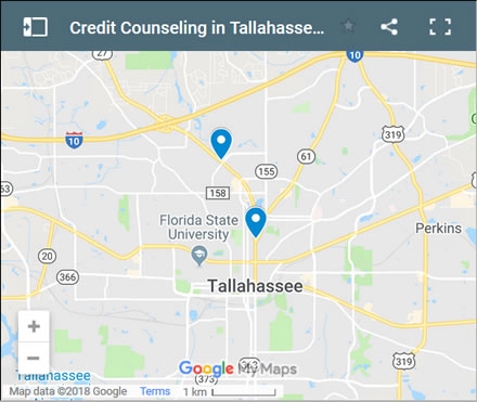 Tallahassee Credit Counsellors Map - Initial Static Image