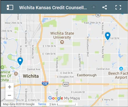 Wichita Credit Counsellors Map - Initial Static Image