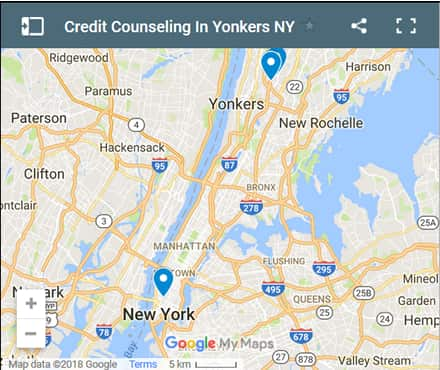 Yonkers Credit Counsellors Map - Initial Static Image